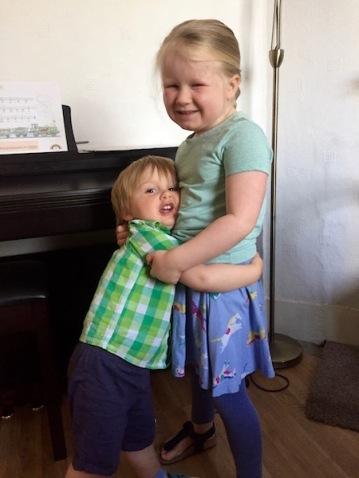 Ethan Hugging Lydia