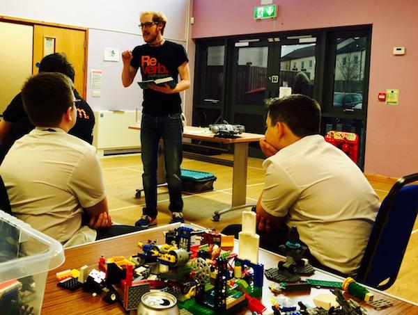 Tim Teaching on Reverb Lego Night